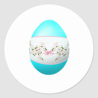Easter Dogwood Round Stickers