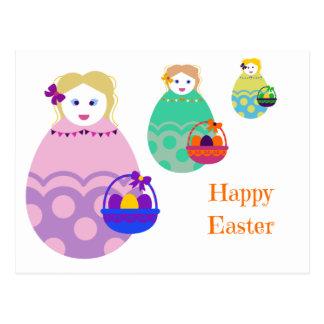 Easter Doll Postcard