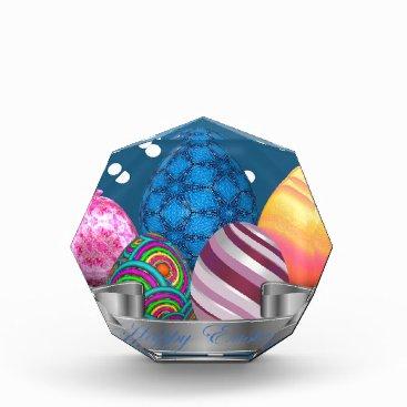 Professional Business easter, dots, strip, elegant, eggs acrylic award