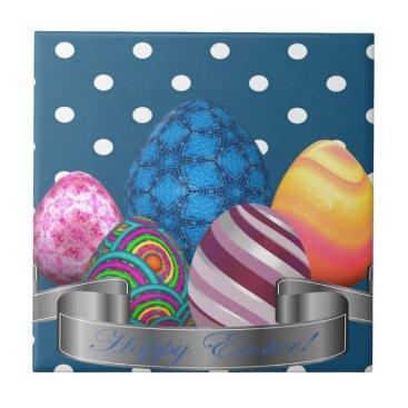 Professional Business easter, dots, strip, elegant, eggs ceramic tile