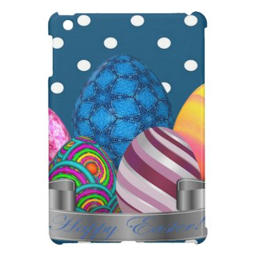 Professional Business easter, dots, strip, elegant, eggs iPad mini cover