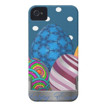 Professional Business easter, dots, strip, elegant, eggs iPhone 4 cover