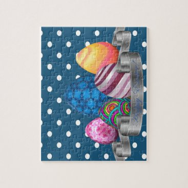 Professional Business easter, dots, strip, elegant, eggs jigsaw puzzle