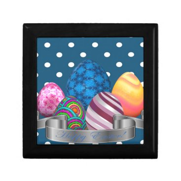 Professional Business easter, dots, strip, elegant, eggs keepsake box