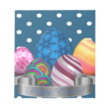 Professional Business easter, dots, strip, elegant, eggs notepad