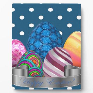 Professional Business easter, dots, strip, elegant, eggs plaque