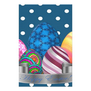 Professional Business easter, dots, strip, elegant, eggs stationery