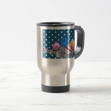 Professional Business easter, dots, strip, elegant, eggs travel mug