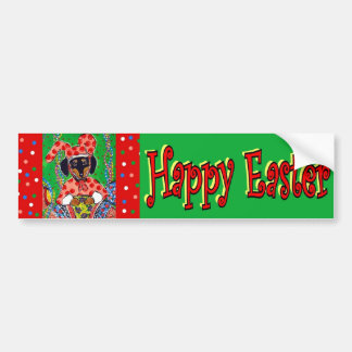 Easter Doxie Bumper Sticker