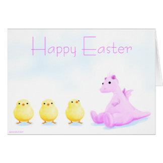 Easter dragon card