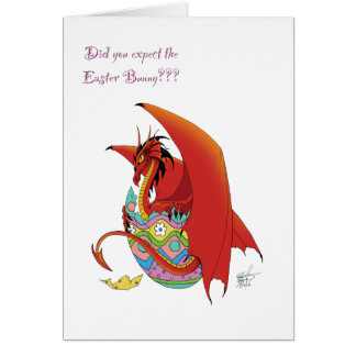 Easter Dragon Greeting Card