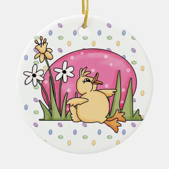 Easter Duck Ceramic Ornament