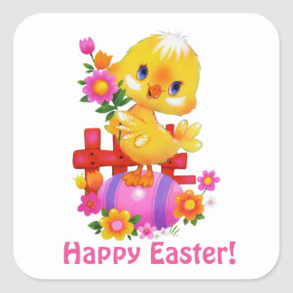 Easter Duck Holiday fun sticker