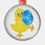 Easter Duckling Carrying an Egg Ornament