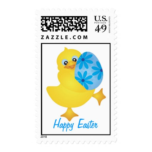Easter Duckling Carrying Egg Postage