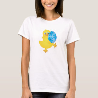 Easter Duckling with Blue Egg T-Shirt