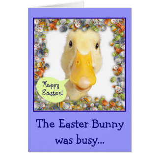 Easter Ducky Greeting Card