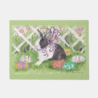 Easter Dutch Rabbit and Eggs Doormat