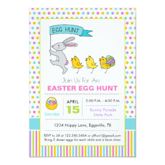 Easter Easter Egg Hunt Invitation Bunny Parade