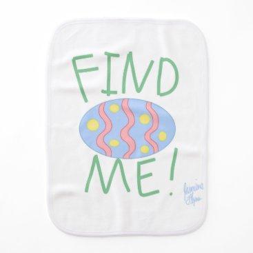 jasmineflynn Easter Egg 1 Baby Burp Cloth