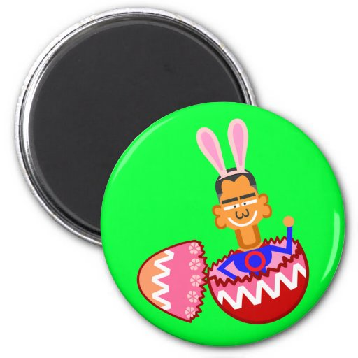 Easter egg 2 inch round magnet