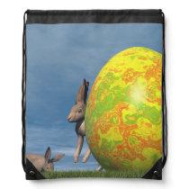 Easter egg - 3D render Drawstring Backpack
