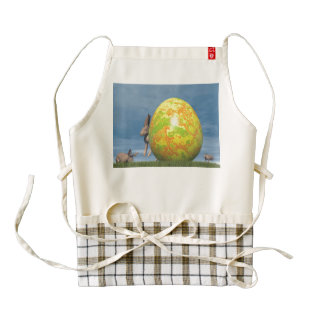 Easter egg - 3D render Zazzle HEART Apron
