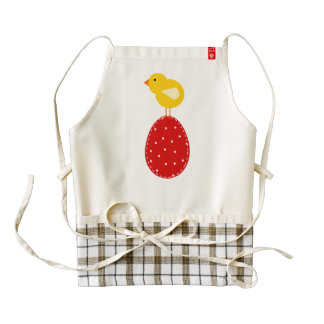Easter egg an chicken cartoon zazzle HEART apron