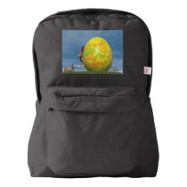 Easter egg and hare - 3D render American Apparel™ Backpack