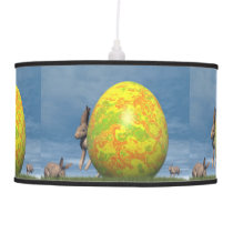 Easter egg and hare - 3D render Ceiling Lamp
