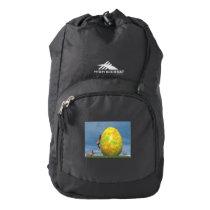 Easter egg and hare - 3D render High Sierra Backpack