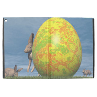 """Easter egg and hare - 3D render iPad Pro 12.9"""" Case"""