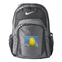 Easter egg and hare - 3D render Nike Backpack