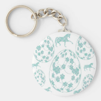 Easter egg and horse keychain