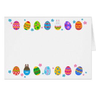< Easter egg and rabbit side line > Easter Eggs & Card