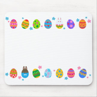 < Easter egg and rabbit side line > Easter Eggs & Mouse Pad