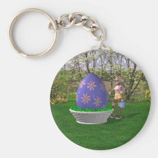 Easter Egg Basic Round Button Keychain