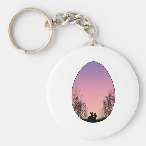 Easter Egg Basic Round Button Keychain