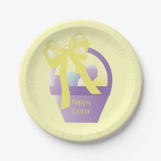 Easter Egg Basket Eggs Party Plates 7in