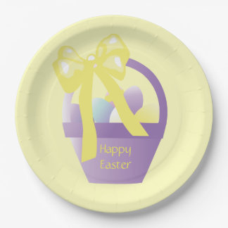 Easter Egg Basket Eggs Party Plates 9 Inch Paper Plate