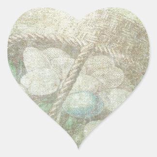 Easter Egg Basket Heart Sticker