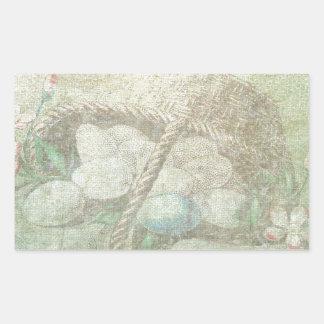 Easter Egg Basket Rectangular Sticker