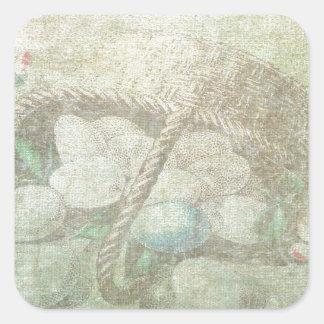 Easter Egg Basket Square Sticker