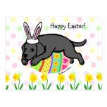 Easter Egg Black Labrador Cartoon Postcards