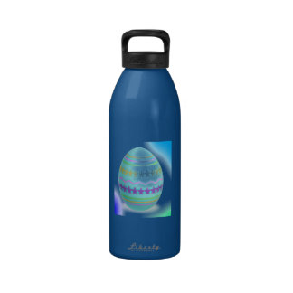 Easter Egg Blues Water Bottles