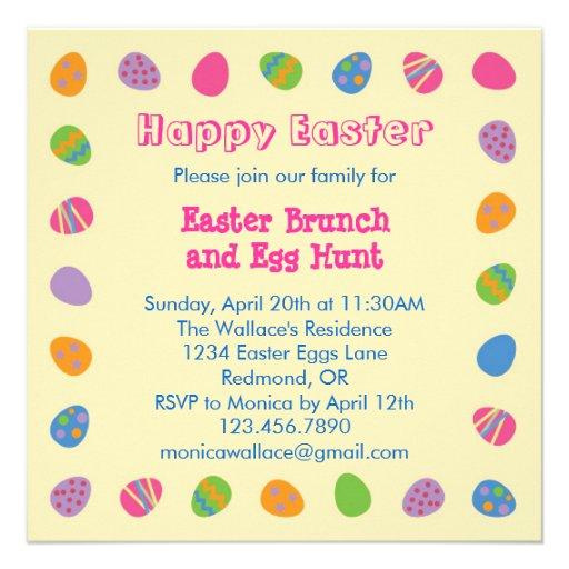 Easter Egg Border Invitation
