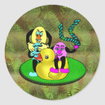 Easter Egg Buddies Classic Round Sticker
