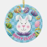 Easter Egg Bunny Christmas Ornament