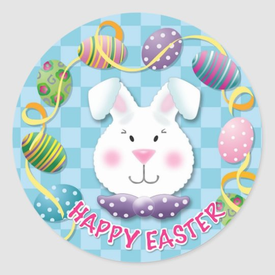 Easter Egg Bunny Classic Round Sticker