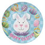 Easter Egg Bunny Dinner Plate